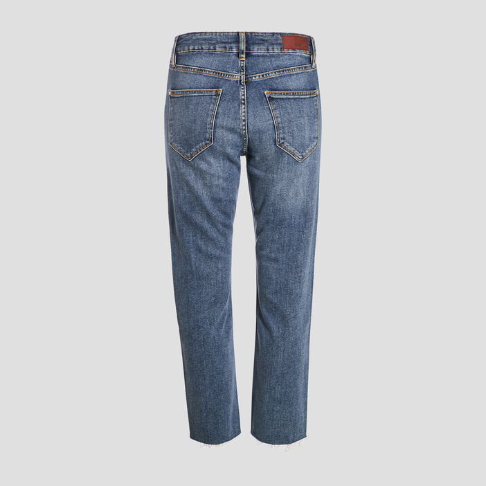 Jeans droit taille standard denim double stone femme