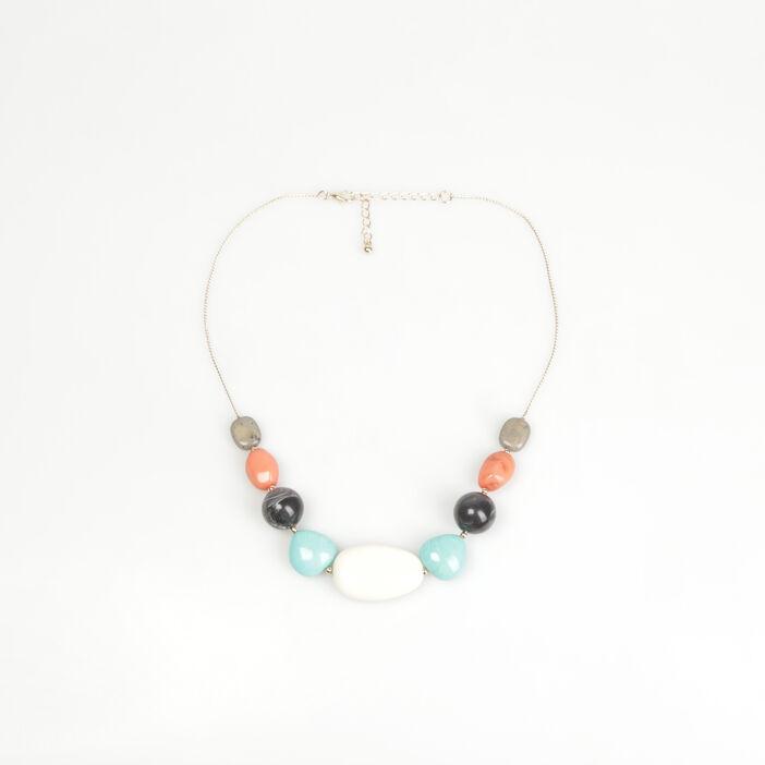 Ras-de-cou grosses perles couleur or femme