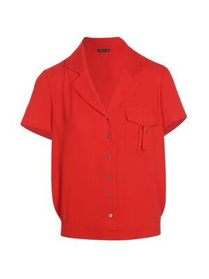 Chemise une bas boucle rouge femme