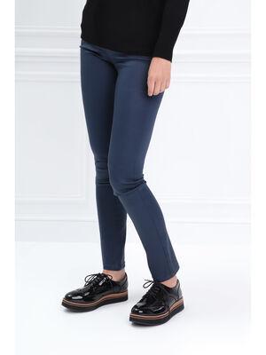 Pantalon ajuste basculee bleu marine femme