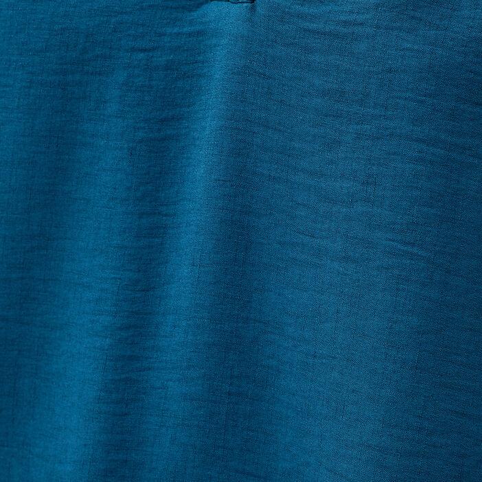 Blouse manches 3/4 bleu canard femme