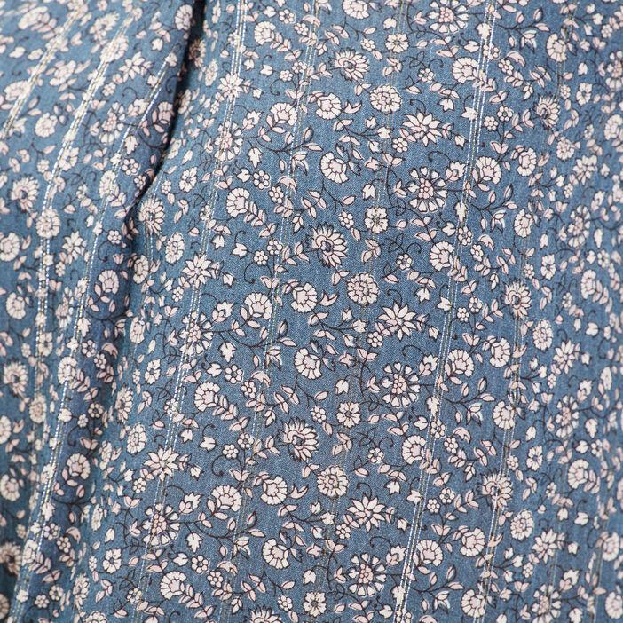 Blouse manches 3/4 bleu pétrole femme