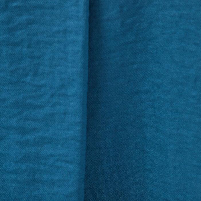 Blouse manches 3/4 boutonnées bleu pétrole femme