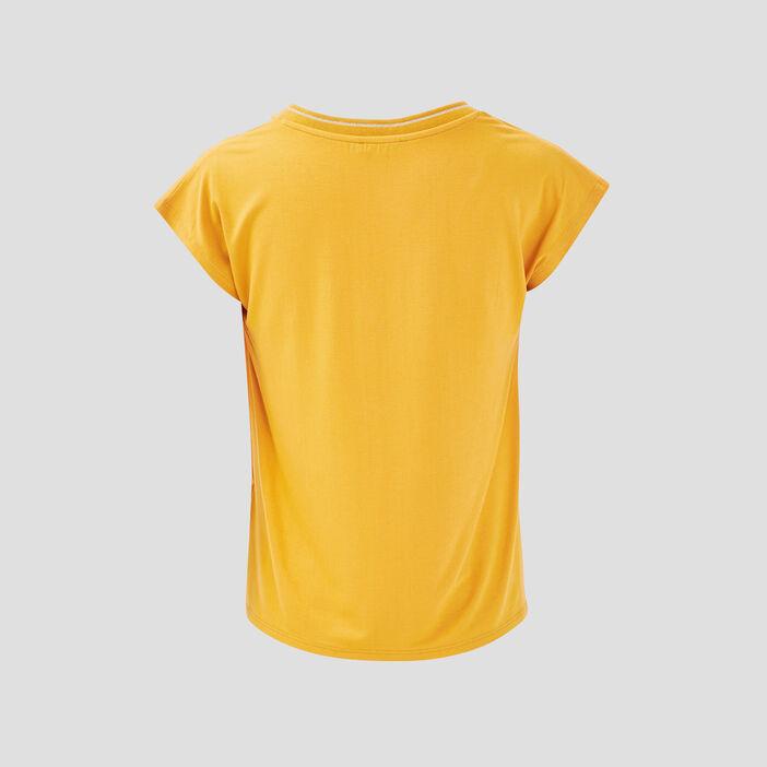 T-shirt manches courtes jaune or femme