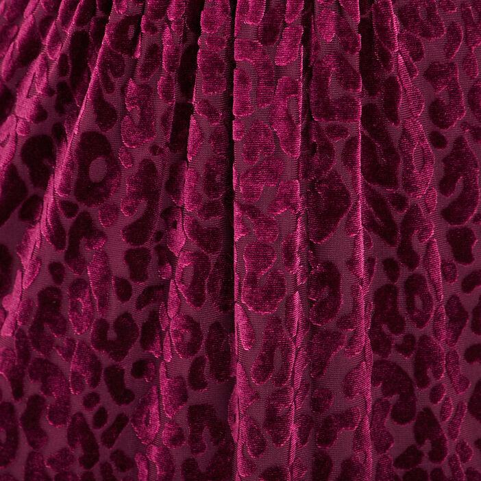 Robe ajustée effet velours rose framboise femme