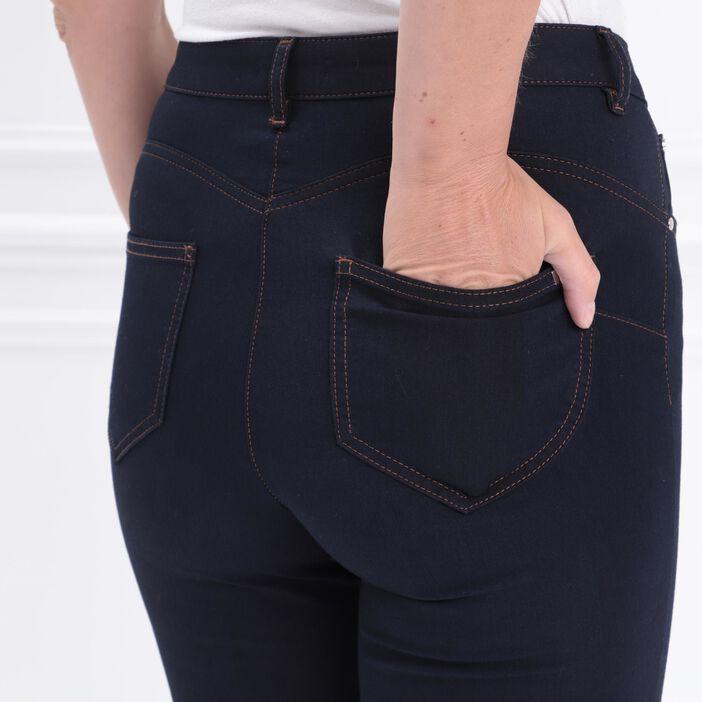 Jean leger confortable taille standard denim brut femme