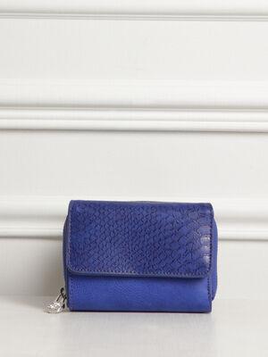 Portefeuille 2 compartiments bleu femme
