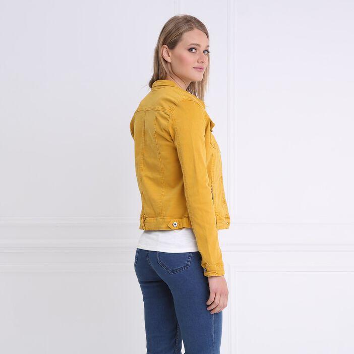 Veste en jean jaune or femme