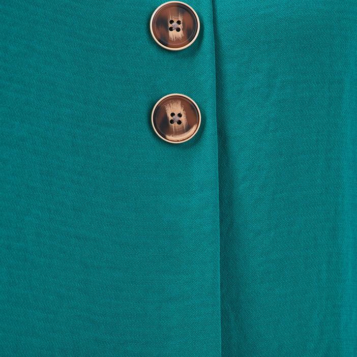 Blouse manches courtes vert émeraude femme