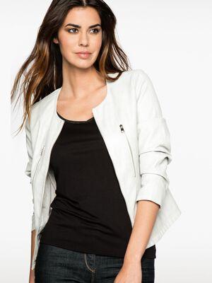 Veste zippee gris fonce femme