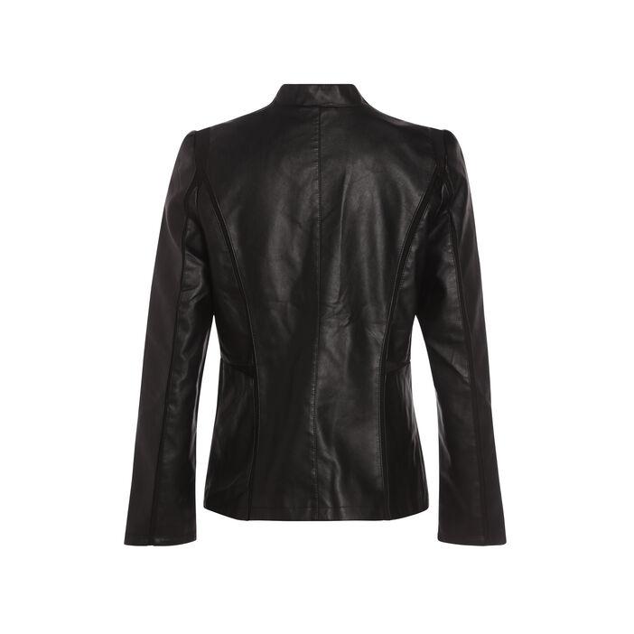 Veste cintrée col en V montant noir femme