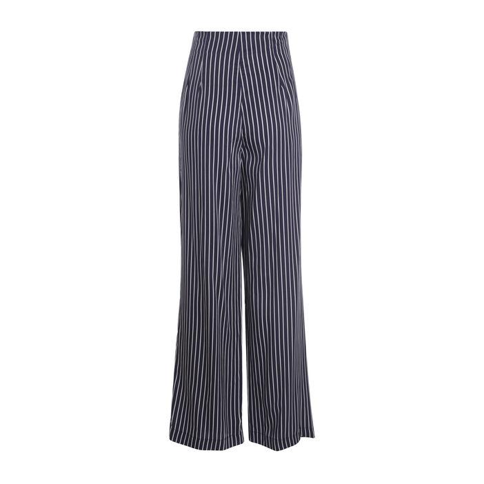 Pantalon fluide bleu foncé femme