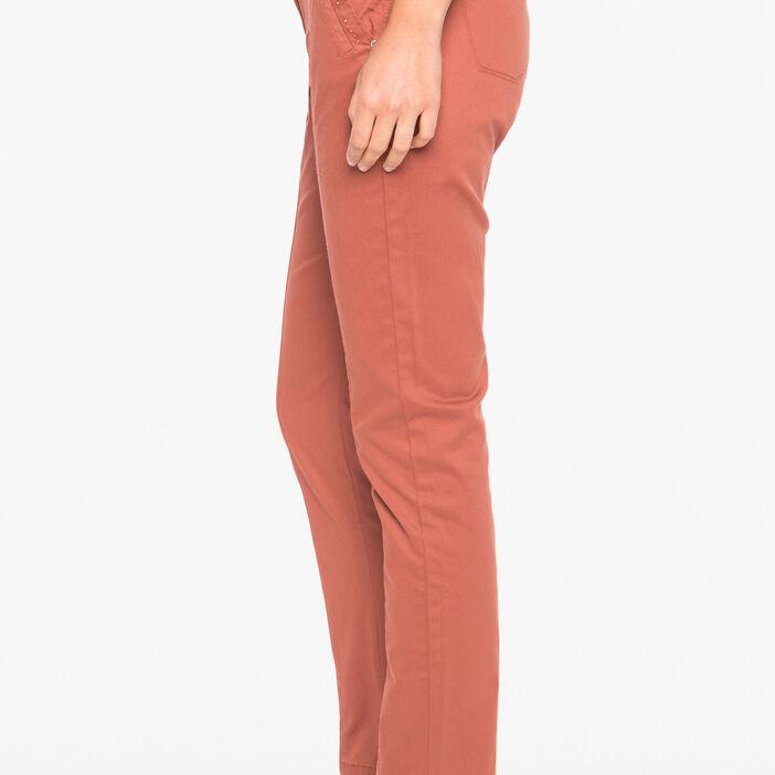 Pantalon 7/8ème ajustée marron foncé femme