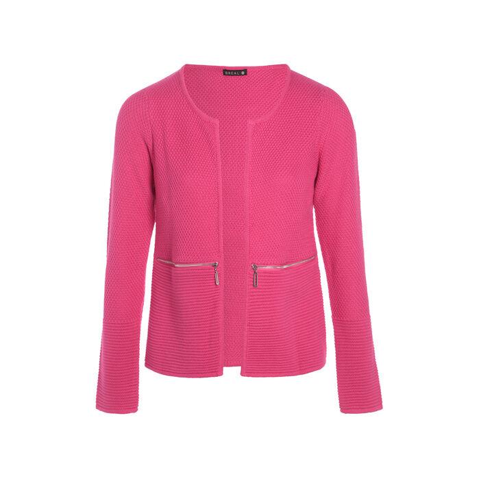 Gilet avec zips rose fushia femme