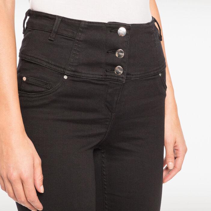 Pantalon magique gainant uni noir femme