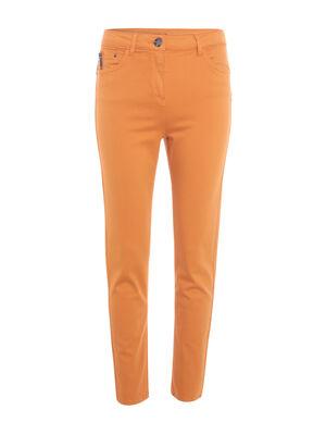 Pantalon 78eme taille standard jaune moutarde femme