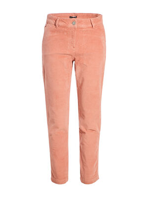 Pantalon chino taille baculee vieux rose femme