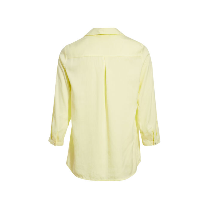 Blouse manches 3/4 jaune fluo femme