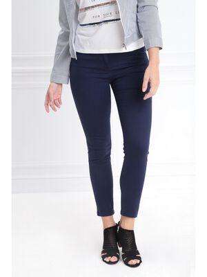 Pantalon 78 taille standard bleu marine femme