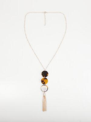 Sautoir ronds avec motifs couleur or femme