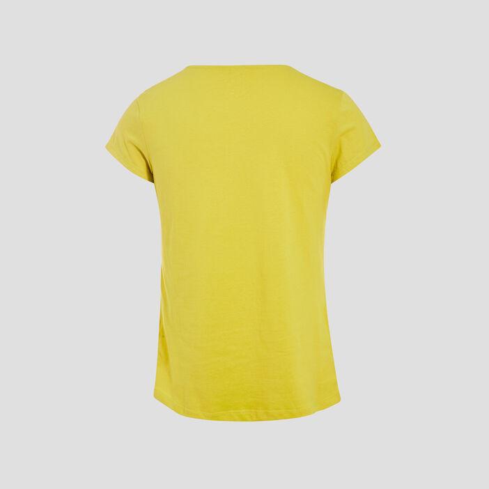 T-shirt manches courtes vert anis femme