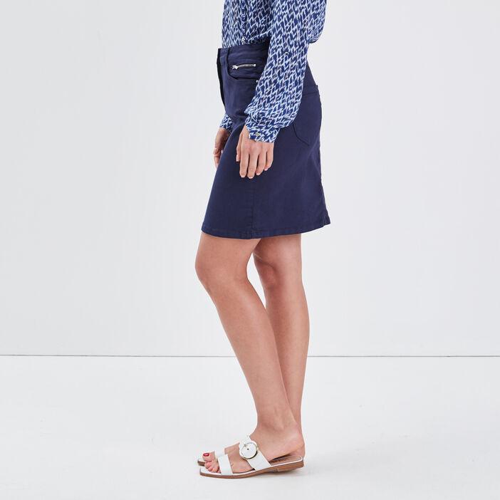 Jupe droite bleu marine femme