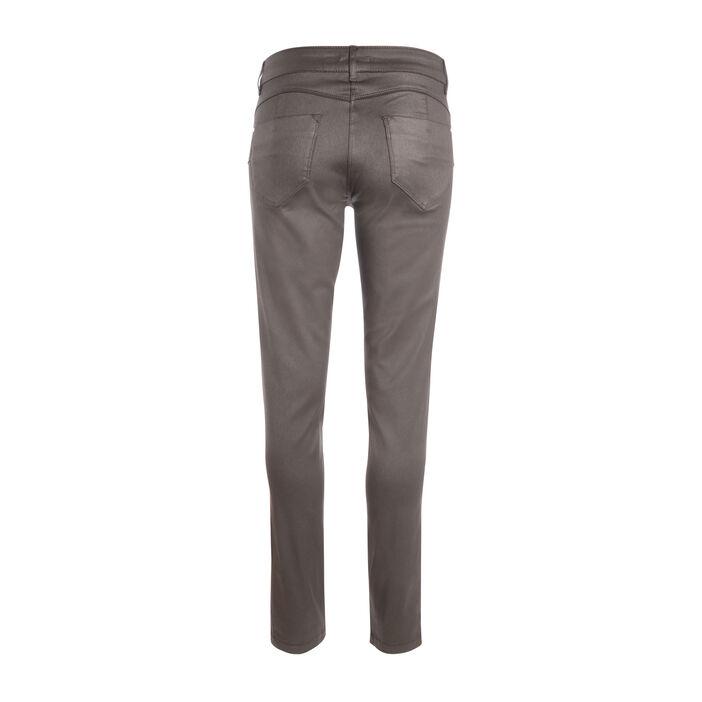 Pantalon taille basculée 7/8 gris foncé femme