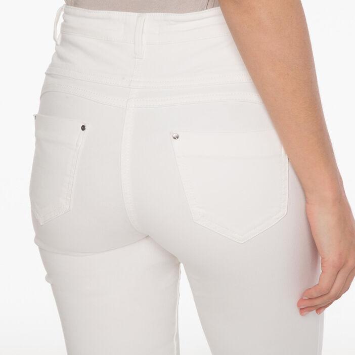 Pantalon magique gainant uni blanc femme