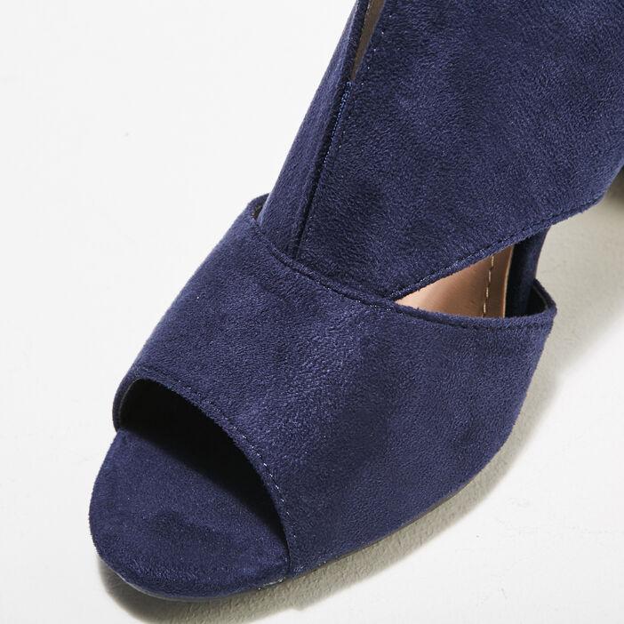 Sandales à talons bottiers bleu femme