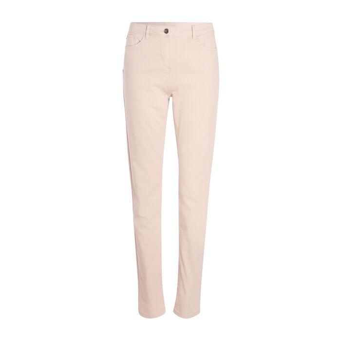 Pantalon push up taille haute beige femme