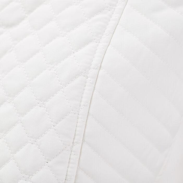 Doudoune droite zippée ecru femme