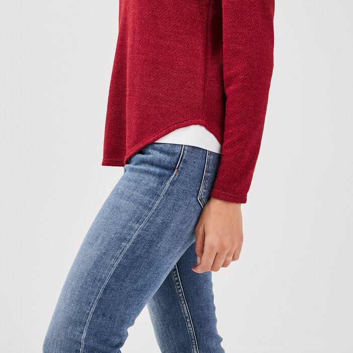 T-shirt manches longues rouge femme