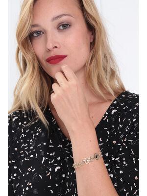 Bracelet jonc filigrane couleur or femme
