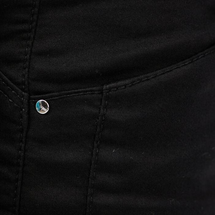 Pantalon ajusté taille basculée noir femme