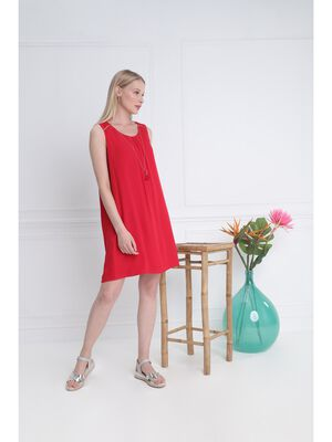 Robe unie rouge femme