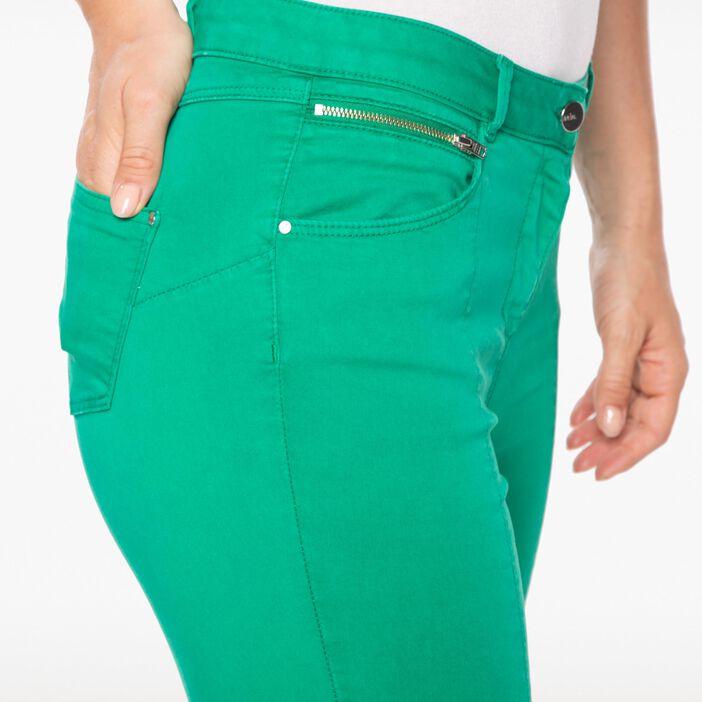 Pantacourt avec zip vert femme