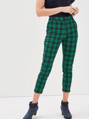 Pantalon ajuste 78eme vert menthe femme