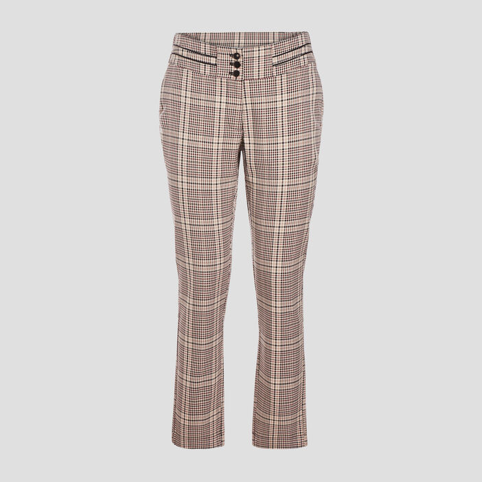 Pantalon droit ecru femme