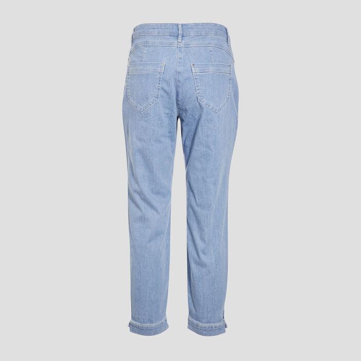 Jean ample taille standard denim bleach femme