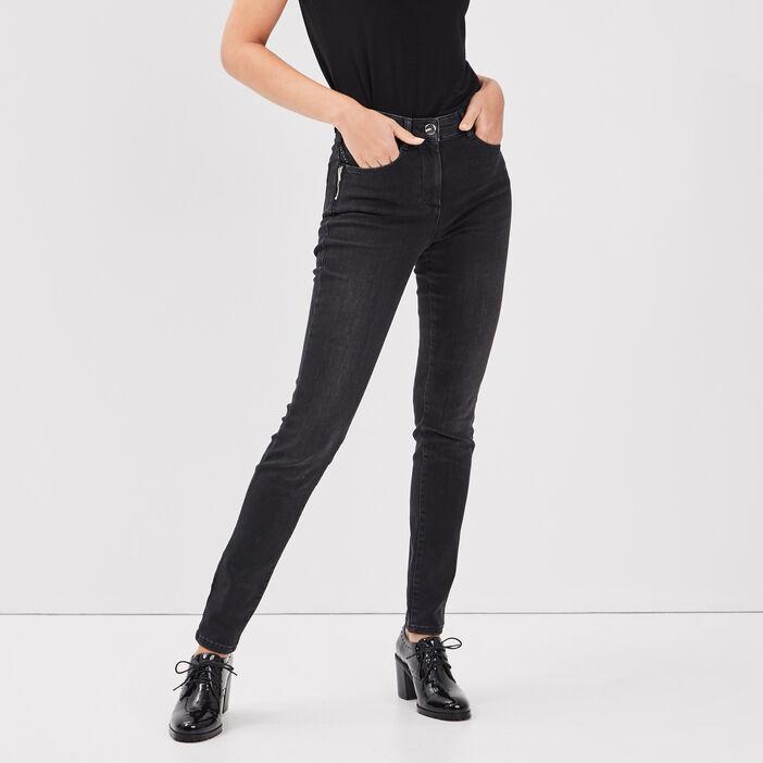 Pantalon près du corps gris foncé femme