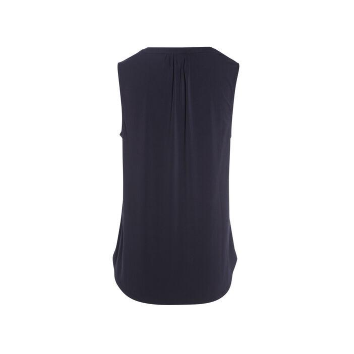 Tee-shirt sans manches bleu foncé femme