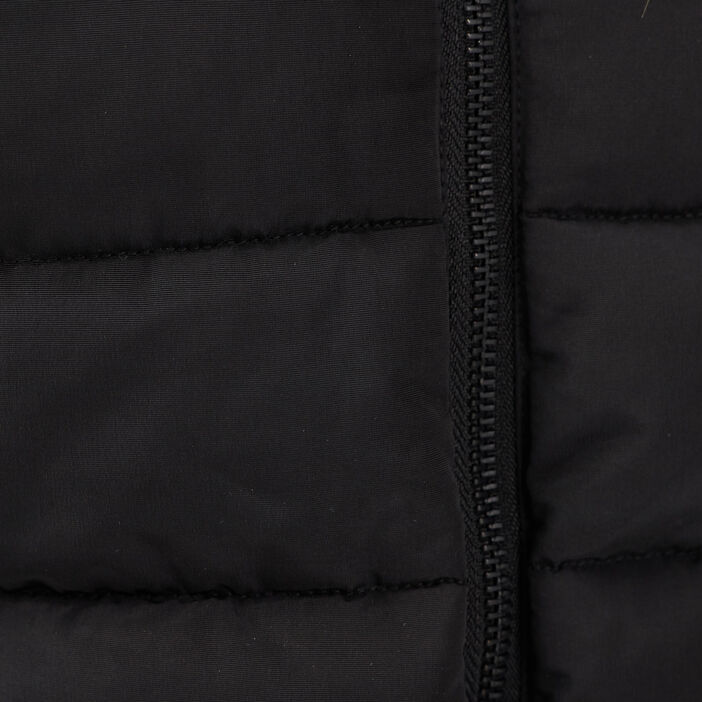 Doudoune cintrée à capuche noir femme