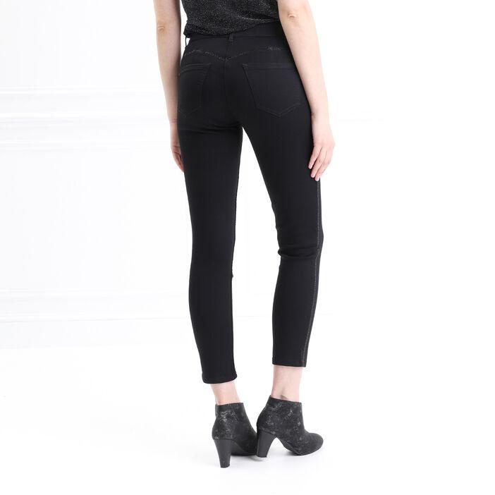 Pantalon ajusté 7/8ème noir femme