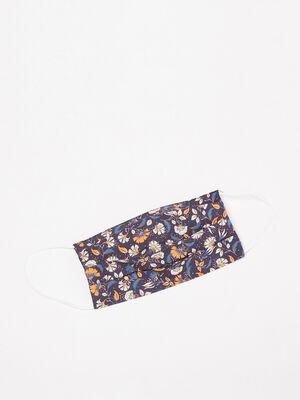 Masque en tissu bleu marine femme