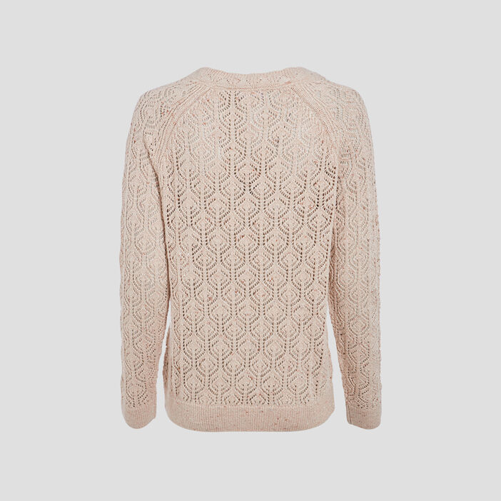 Pull manches longues sable femme