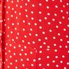 Robe longue evasee fluide rouge femme