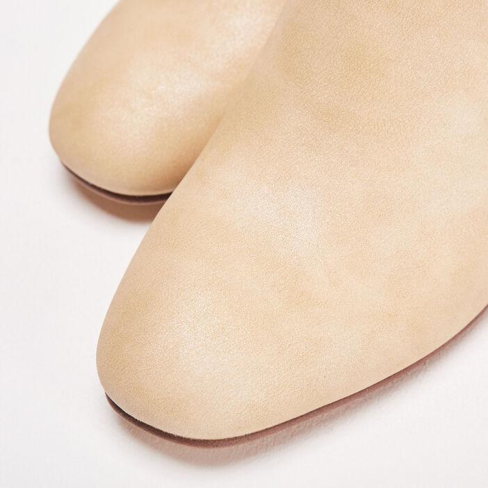 Bottines à talons sable femme