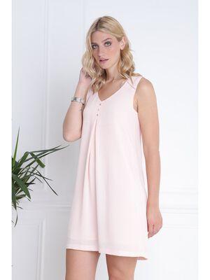 Robe coupe debardeur rose femme