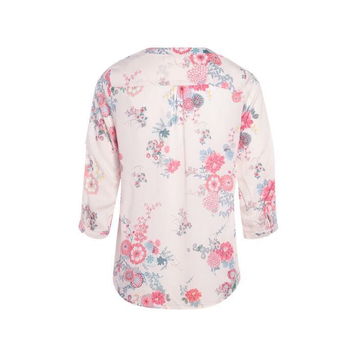 Chemise imprimée avec oeillets rose poudrée femme