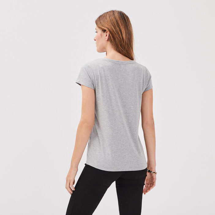 T-shirt Blondie gris clair femme